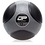 DYNAPRO Medicine Ball | Exercise Ball, Durable Rubber, Consistent Weight Distribution, Comfort Textured Grip for Strength Training (Gray- 12LB)