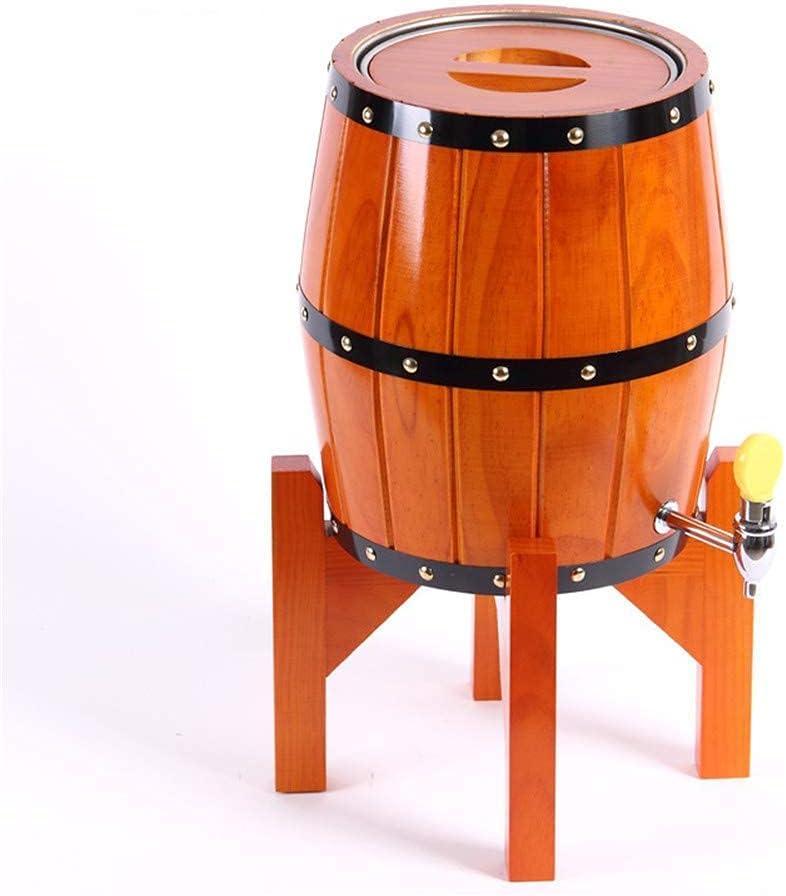 GAXQFEI Barril de Roble Vertical, 3 / 5Liter American Oak Envejecido Barril   Tequila, Whi, Bourbon, Decoración Del Hogar de Vino, Fabricación de Vinos,Naranja,5L