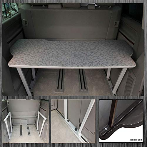 Bremer - Fundas de Asiento multiflexboard para extensión de Cama Compatible con VW T5 y T6 Multivan T5