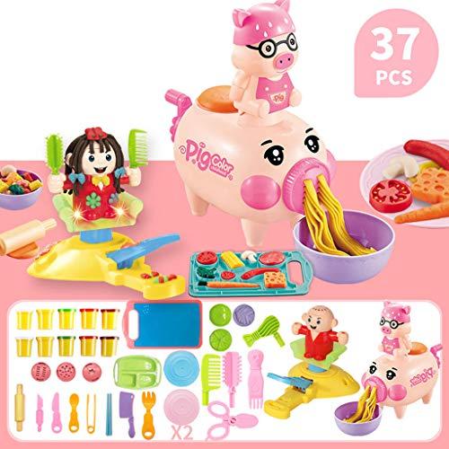 37 stks Playdough Gereedschap Deeg Keuken DIY Speelset, Pasta Speelgoed Set Jongens en Meisjes Snijden Groenten Kookset Keuken Accessoires voor Peuters