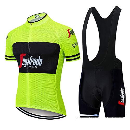 MAFYU Mannen Fietsen Jersey Zomer MensCycling Suit, Sneldrogende Ademende Mountainbike Kleding Fietsen Korte Jas Fiets Jersey