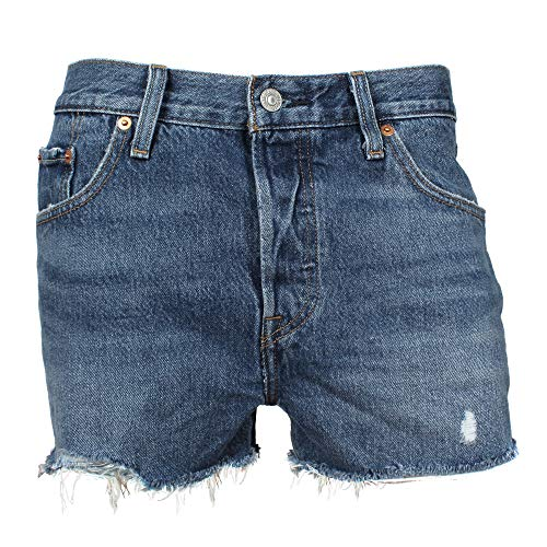 Levis Jeansshorts Damen 501 Short 32317-0073 Back to Your Heart Mittelblau, Hosengröße:27