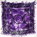 "Triple Moon Altar Cloth 18"" x 18"""