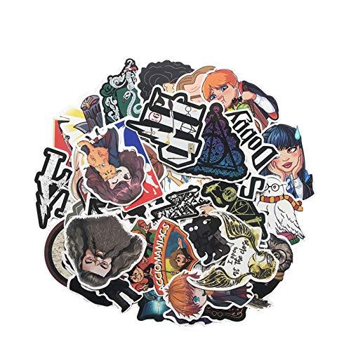 Pegatinas de dibujos animados Harry Potter Personalidad Pvc Impermeable Graffiti Etiqueta Maleta Guitarra Coche Agua Copa Notebook Sticker 53pcs