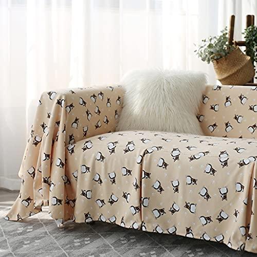 YHRJ Cubierta de Sofá Lindo Perrito Decora la Toalla de la Funda del sofá, Funda de sofá de protección de Sala de Estar casera, Cojín de sofá Tatami de Todo fósforo de Moda