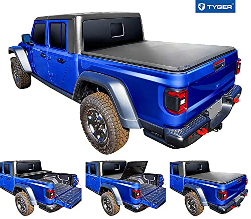 Tyger Auto T3 Soft Tri-Fold Truck Bed Tonneau Cover Compatible with 2020-2021 Jeep Gladiator (JT) |...