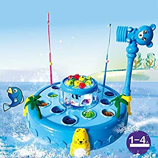 GPPZM Colourful Baby Educational Toy Fish Plastic Magnetic Fishing Toys Set Game Kids Gifts for Kids Outdoor Toy (Color : C)