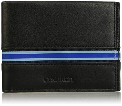 Calvin Klein RUNNER BILLFOLD 8CCHombreShoppers y bolsos de hombroNegro (Black) 9.6x1.5x12 centimeters...