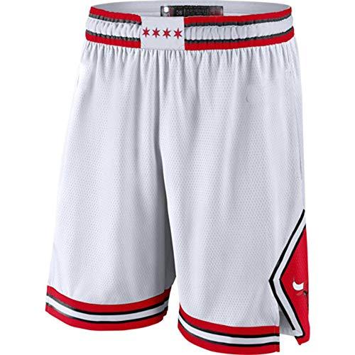 Unknow Nueva Temporada Bulls Basketball Jersey Ball Clothing Camiseta de Regalo Chaleco de Baloncesto Ball Jersey Fans Jersey Chaleco Deportivo (Blanco) - XL-229-blanco_XXL