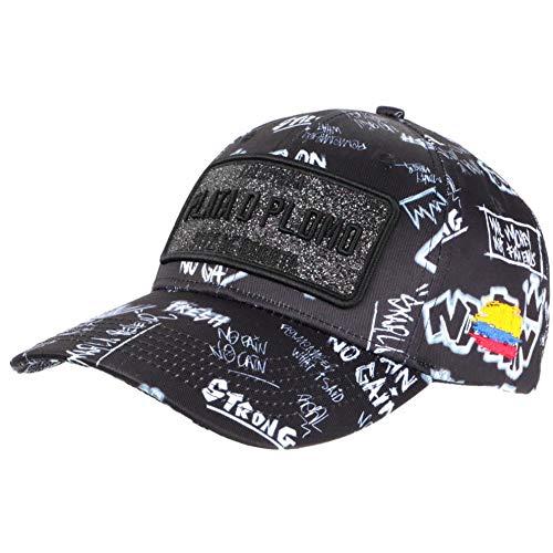 Berretto Plata o Plomo nero e grigio strass Streetwear Colombia Baseball – Unisex Nero taglia unica