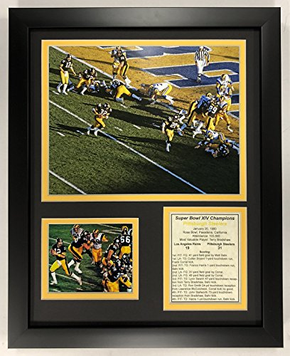 "Legends Never Die 1979 Pittsburgh Steelers - Super Bowl XLIII Champions - Action - Framed 12""x15"" Double Matted Photos, Inc."