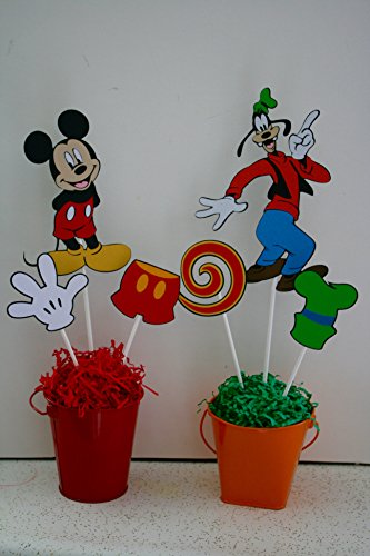 6 Mickey and Friends Centerpieces
