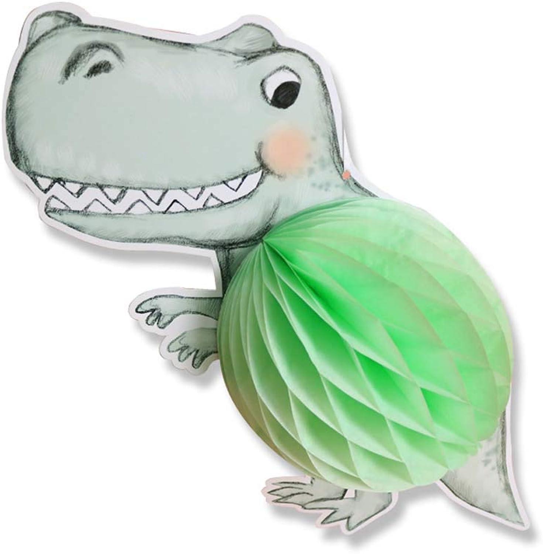 JXSWedding DinosaurierBienenwabenBallPapierBommelPapierlaterne, handgemalte Art für Hochzeit, KinderduschenPartei, FeiertagsDekoration,20PCS