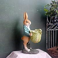 アウトドアガーデンヴィンテージレジン勤勉なウサギ肉質フラワーポットガーデンデコレーション