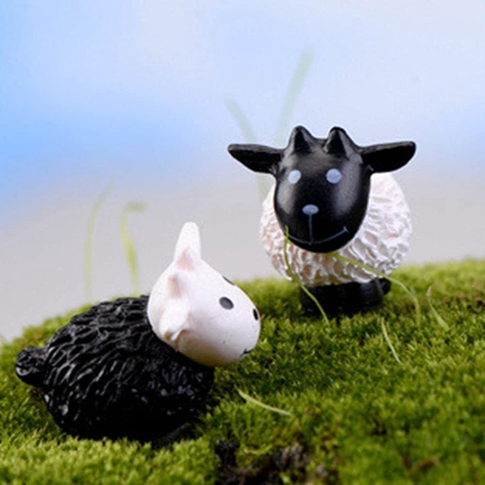 ZUGOU 2 10 20Pcs Black El Paso Mall New popularity Landscape Micro White Miniature Figurine