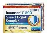 tetesept Immusan C 800 5-in-1 Depot Complex – Depot-Tabletten zur Unterstützung des Immunsystems – Nahrungsergänzungsmittel mit Vitaminen – 3 Monatspackung – 1 x 90 Tabletten