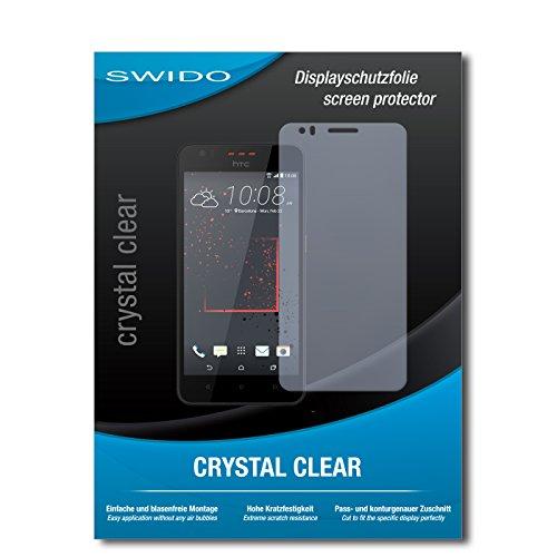 SWIDO Schutzfolie für HTC Desire 825 [2 Stück] Kristall-Klar, Hoher Festigkeitgrad, Schutz vor Öl, Staub & Kratzer/Glasfolie, Bildschirmschutz, Bildschirmschutzfolie, Panzerglas-Folie