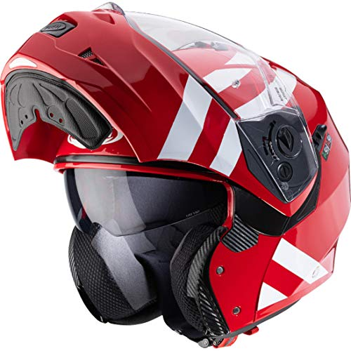 Caberg DUKE II SUPERLEGEND Klapphelm rot/weiss M