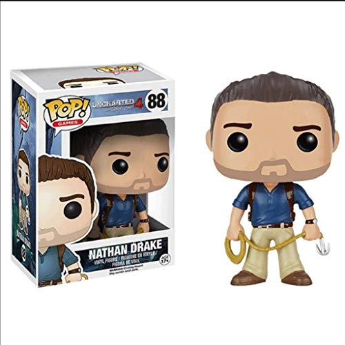 MXD Uncharted POP Figuren Vinyl: Nathan Drake Action-Figur Sammlung Spielzeug 10cm Puppe Dekoration Home/Office