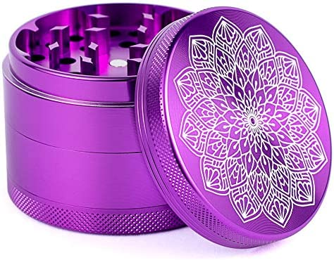 4 Piece Herb Grinder Aluminum Large 2 5 Spice Grinders with Catcher Purple product image