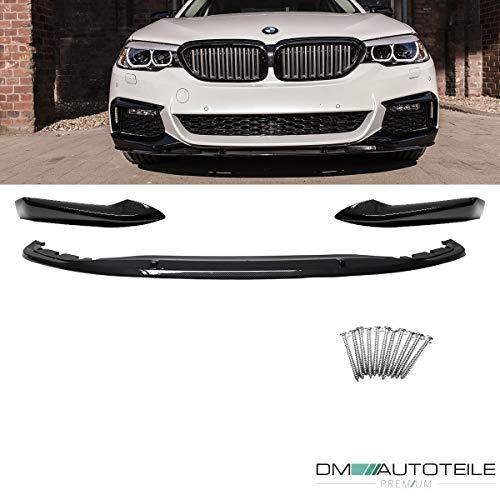 DM Autoteile Frontspoiler Sport-Performance Carbon Hochglanz + 4x M6 passend für 5er G30 M-Paket 17>