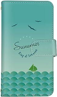 スマ通 Android One X2 国内生産 ミラー スマホケース 手帳型 HTC エイチティーシー アンドロイド ワン エックスツー 【4-グリーン】 summer q0004-z0050