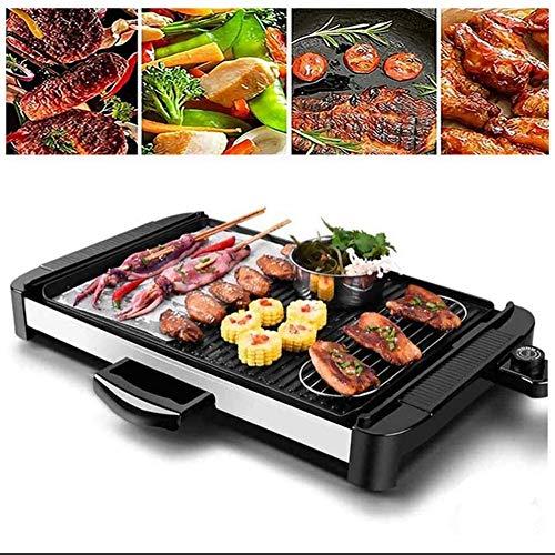 Elektrischer Grill Grill Rauchfreier Tisch Grill Grill Antihaft-Pfanne Elektroherd mit 5 Temperaturanpassungen Außengrill Großraum Haushalt Multifunktional