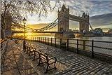 Poster 60 x 40 cm: Tower Bridge in London bei Sonnenaufgang