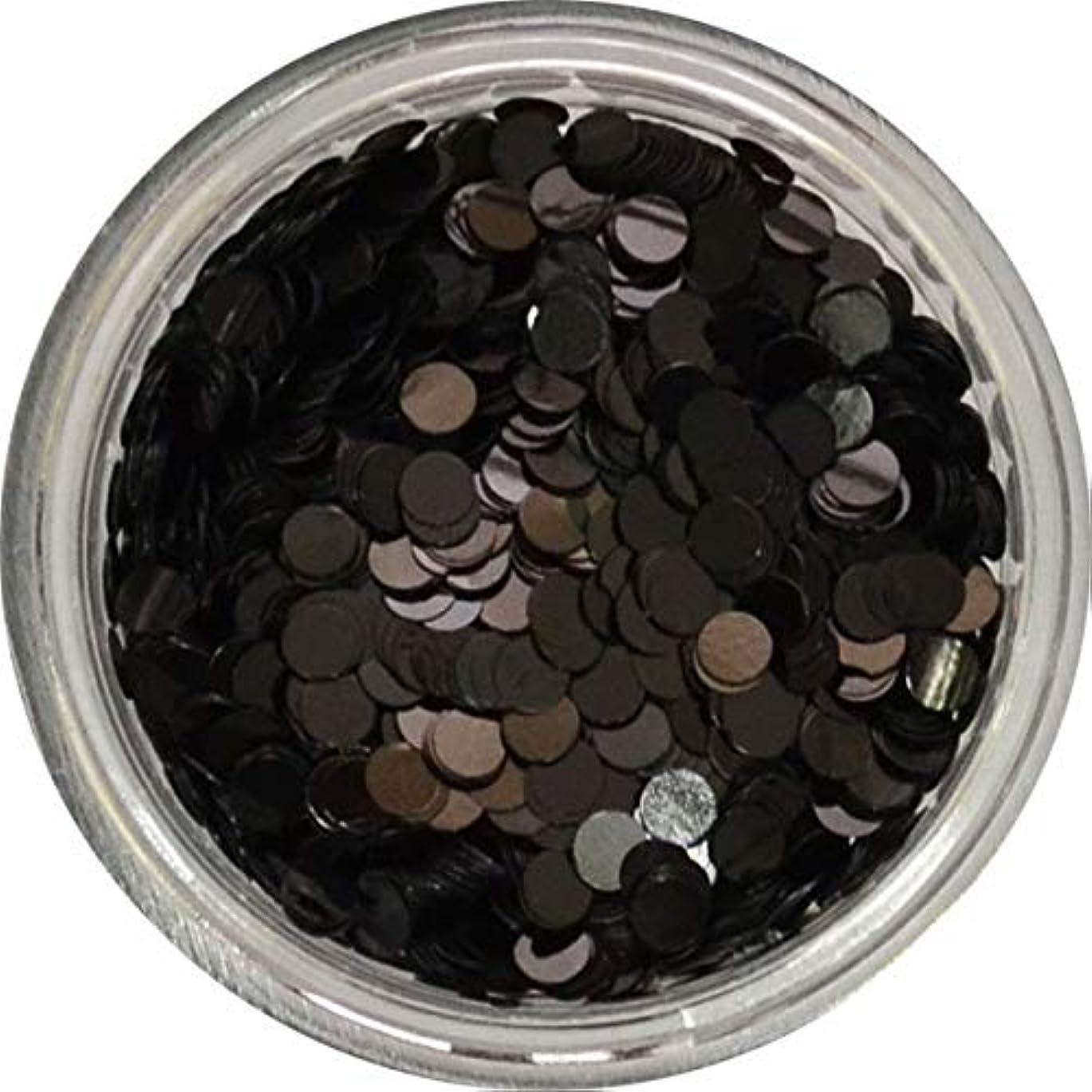 包括的意気揚々ラダ丸ホロ 水玉模様 ドット柄 など色々使える便利な 丸いホログラム 円形 丸型 ラウンド ホログラム (ブラック2mm)