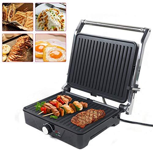 Fetcoi Parrilla eléctrica 3 en 1, mesa para panini, barbacoa, sandwiches, paninis, tostadora, 2000 W