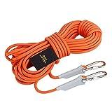 WWJ Resistente Al Desgaste Cuerda De Escalada Cuerda De Seguridad Escalada Escalada Cuerda De Rescate Equipo Al Aire Libre Cuerda De Escape De Emergencia Flotante,10M8mm