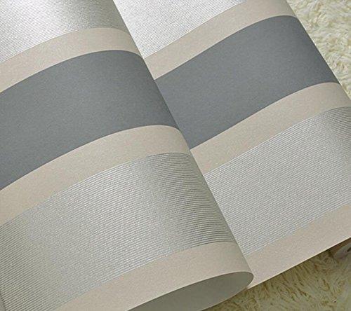 LJXWH Einfache Vertikale Streifen Vliestapete Schlafzimmer Wohnzimmer TV Kulisse Tapete,Gray