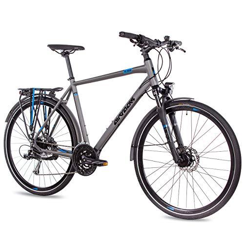 Airtracks Herren Trekking Fahrrad 28 Zoll Trekkingrad 56cm TR.2840 Grau Matt (56cm (Körpergröße 175-185cm))