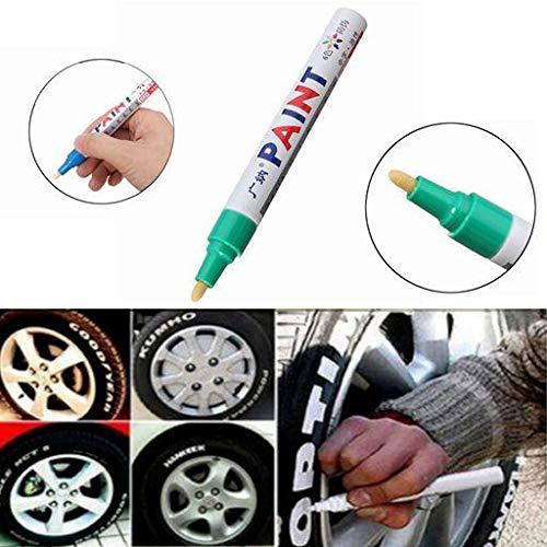 NICOLIE 2 Uds, Color Verde, Neumático, Pluma De Pintura Permanente, Neumático, Marcador De Tinta De Marcado Al Aire Libre De Metal, De Moda