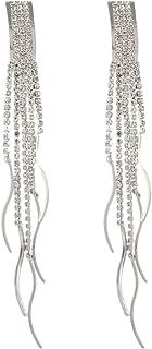 Korean Temperament Water ripple Tassel Rhinestone Nightclub Flash Earrings Female Jewelry Gifts