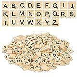 1000 Piezas Letras de Madera Juego,Scrabble Azulejos Letras Manualidades,Artesanía Alfabeto Madera...