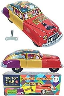 Circus Wagon Windup Tin Toy Car