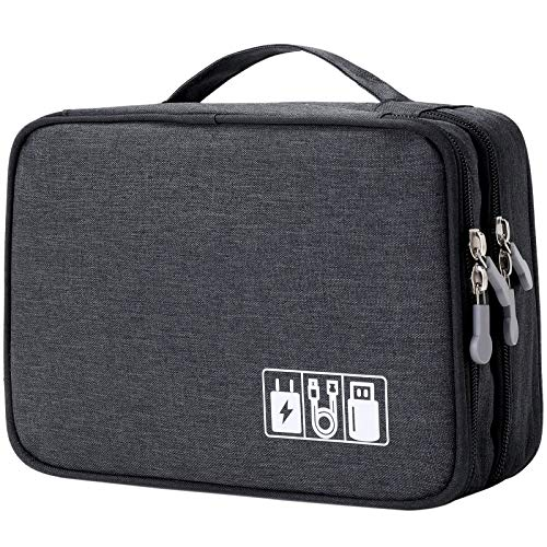 Travel Cable Organizer Bag, Electronic Accessories Case Portable...