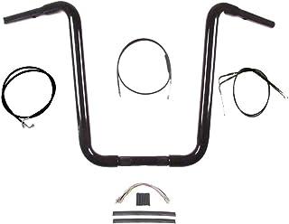 "Hill Country Customs 1 1/4"" Gloss Black Narrow 16"" Ape Hanger Handlebar Kit 1996-2006 Harley-Davidson Softail - BC-HC-11416GBN-ST06-BC"
