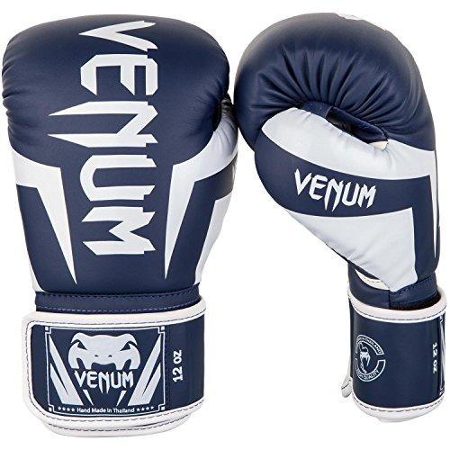Venum Elite Boxhandschuhe, Weiss/Marineblau, 12 oz