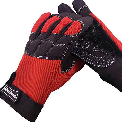 MECHANIC GLOVES For Working On Cars - Work Safety Gloves Protect Fingers And Hands - Large Size Fits...