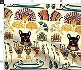 Katzen, Göttinnen, Ägyptisch, Lotusblume, Anch Stoffe -