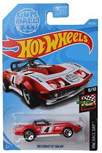 Hot Wheels Race Day Series 8/10 '69 Corvette Racer 173/250, Rojo