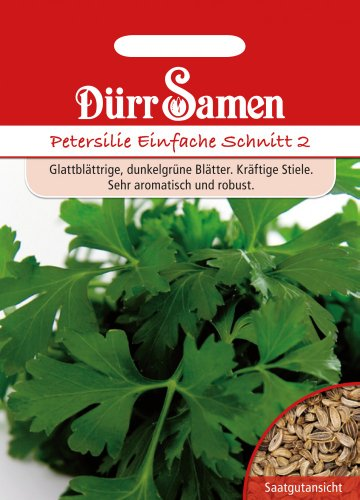 Dürr-Samen Petersilie Einfache Schnitt 2