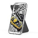Compatible con iPhone Samsung Xiaomi Redmi Note 10 Pro/Note 9/Poco X3 Pro Funda Initial D Style Artwork, RX7 vs AE86 Cajas del Teléfono Cover
