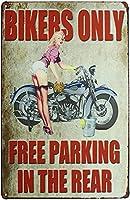レトロおかしい金属錫サイン12x 16インチ(30 * 40 cm)オートバイ車ブリキ看板警告通知パブクラブカフェホームレストラン壁の装飾アートサインポスター(ld-1-21)
