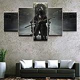 FHSFFS Leinwanddrucke Home Decor Canvas Bild 5 Stück von