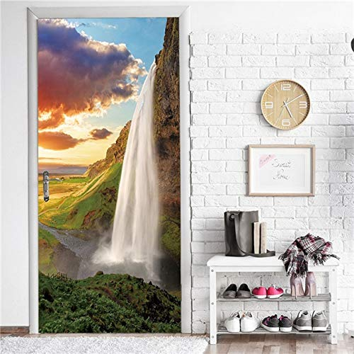 Landscape Door Stickers Self-adhesive Wallpaper For Doors Art Home Decor Mural Removable Room Decal A23 95x215cm