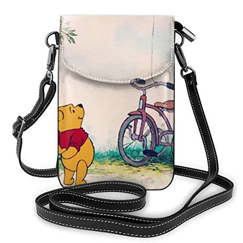 XCNGG Monedero pequeño para teléfono celular Winnie The Pooh Love Blue Ballon Cell Phone Purse Shoulder Bag Travel Daypack Women Girls Party Gift