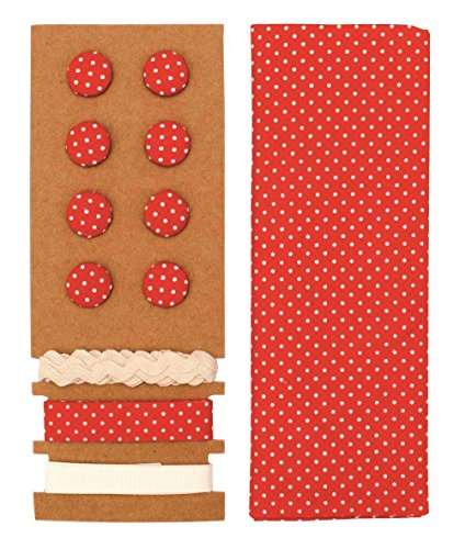 GLOREX Kit de Textile, Polyester, Rouge, 24,5 x 17,6 x 0,5 cm